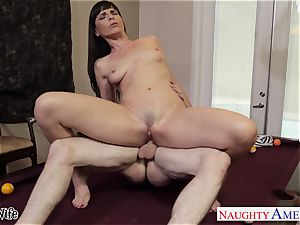 sweetheart housewife Dana DeArmond gets facialized in point of view
