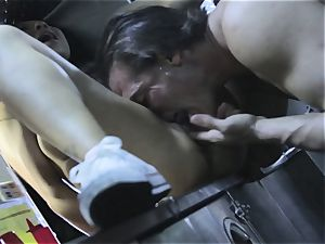 Asa Akira is entirely manmeat cooked in a hasty food trailer
