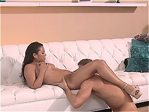 Latina snatch is stretched