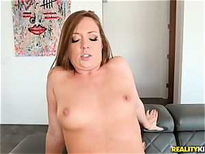jizz drinking bone cocksucker Maddy OReilly sits her vagina on a huge fuck-stick