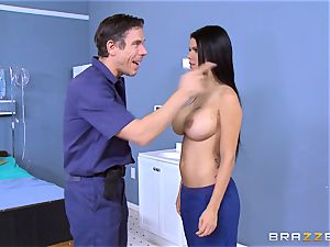 Mick Blue teaches Peta Jensen the rules of surviving