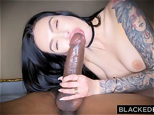 BLACKEDRAW Canadian girlfriend takes phat big black cock in her arse