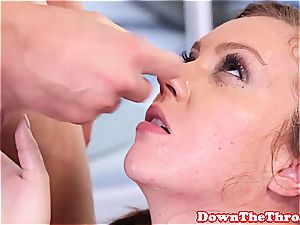 Maddy O'Reilly tearing up a man meat with her jaws