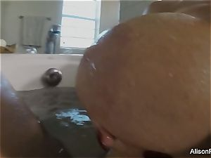 buxomy Alison Tyler takes a bath