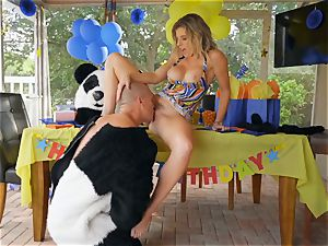 dangled dude in panda costume penetrates cougar Cory pursue