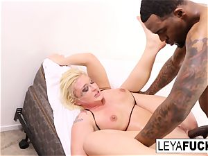 Leya gets a big black lollipop in her caboose