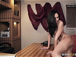 romping steamy Ariana's backside on the office desk