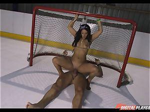 wild dark-haired Eva Lovia porked deep in her coochie pie at the ice rink