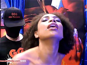 fabulous ebony Latina Luna Corazon wails in pleasure