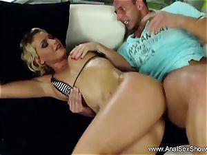 Finger smash Deep anal blond
