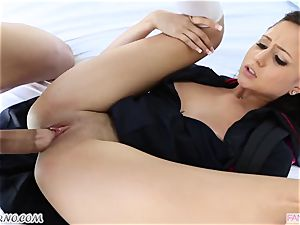 bro drills his junior sista Ariana Marie after lessons