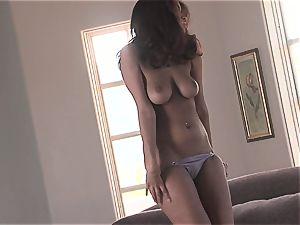 steamy stunner Isis Taylor gets humid and super-naughty on the couch for warm activity