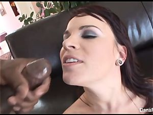 Dana gets her butt rammed with a hefty black spunk-pumps