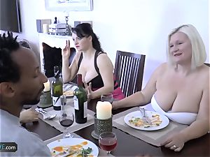 AGEDLOVE grannie lush Lacey Starr encountered her mates