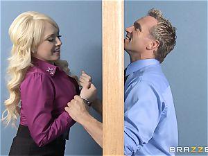 blonde assistant Kagney Linn Karter poking her wild fucking partner