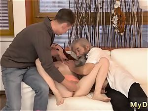 Real fuck-fest senior boy and while father sleeps first time sudden experience with an elderly
