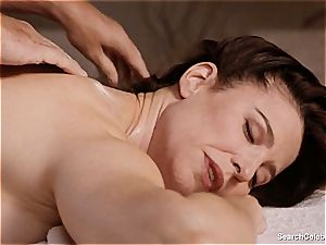 handsome Mimi Rogers gets her whole assets massaged