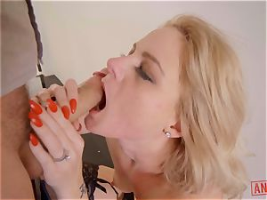 James Deen jams his ample man-meat down the rectum of Lisey fleshy