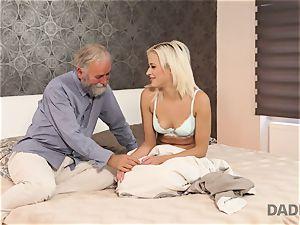 DADDY4K. lady rides older gent s joystick in dad porn video