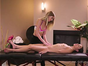 Abella Danger and Haley Reed scissor orgy makes them climax