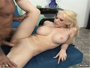 Smoking red-hot blond with fat baps gets boned rigid
