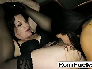 magnificent sub Romi lets sir Sovereign dominate her