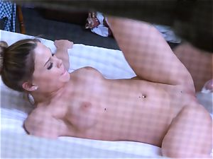 Brianna chocolate-colored caught on spy cam as she smashes