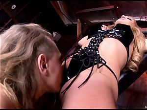 steaming Kagney Karter torments a bound up Amy Brooke