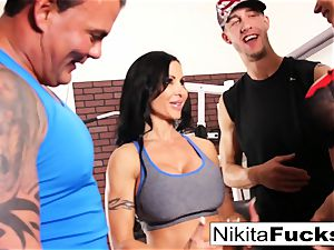 Nikita Von James joins a workout fuck-fest