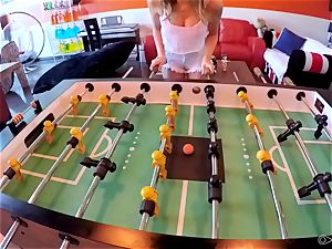 Alexis Adams enjoys playing naughty games