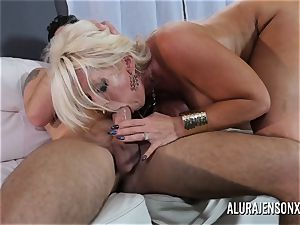 ample melon milf Alura Jenson loves penetrating junior dudes