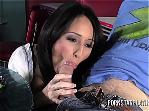 Faustine Lee naughty waitress pulverize at Dinners