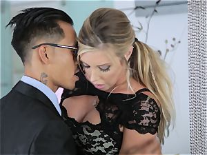 Samantha Saint and Asa Akira sharing a client