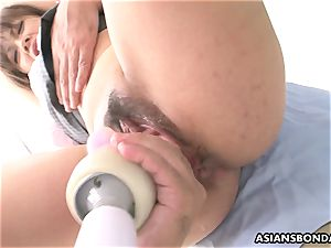 rough medical examination of her wet cooch