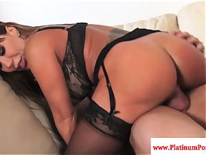 Ava Devine does dp during a 3some