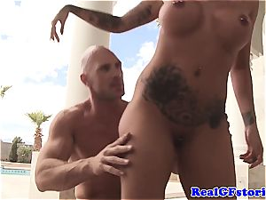 Austin Lynn gets extra nasty for the dick of Johnny Sins