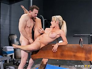 Capri Cavanni ends her exercise with some giant dick