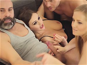 LOS CONSOLADORES - steamy swinger four way with sizzling honeys