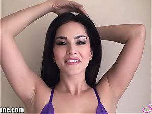 SunnyLeone Sunny Leone in gorgeous purple undergarments