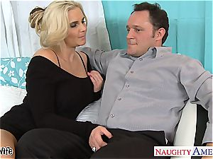 torrid wifey Phoenix Marie gets pinkish twat penetrated