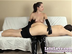 female dom smacking his rump with my hairbrush forearms..