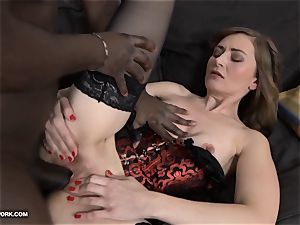 milf ass-fuck hump with ebony fellow screaming in delectation big black cock