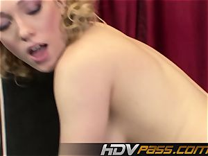 HDVPass Lily Labeau Gives a deep throat Before riding dick