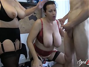 AgedLovE Lacey Starr Eva and Marcus 3some