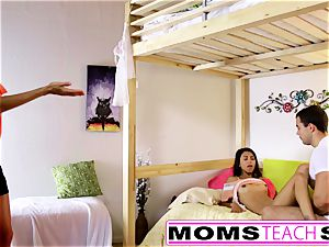MomsTeachSex - mother And daughter have fun With dad Gone