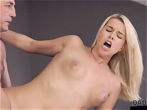 DADDY4K. dad and youthful girl enjoy anal invasion fuckfest near his sleeping sonny