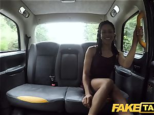 fake taxi rapid pounding and internal ejaculation for peachy backside
