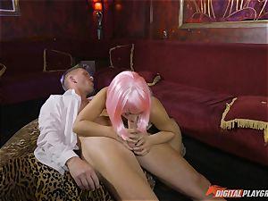 Stripper Eva Lovia open for business
