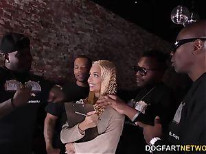 bi-racial gangbang With anal invasion superslut Aaliyah Hadid
