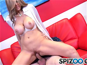 Julia Ann brings the class to the dormitory room